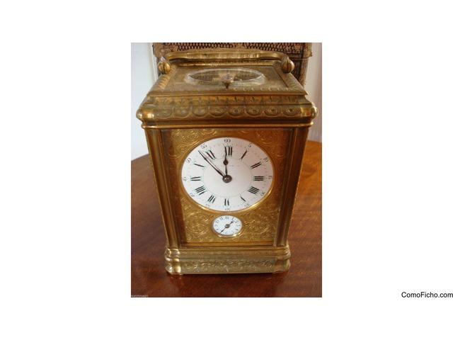 Reloj victoriano Drocourt Grabado Cased Gorge