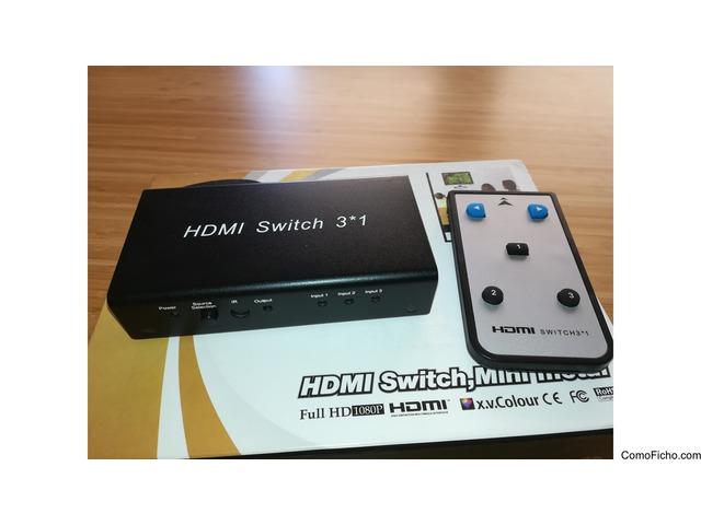 [VENDIDO] HDMI Switch Mini Metal 3x1