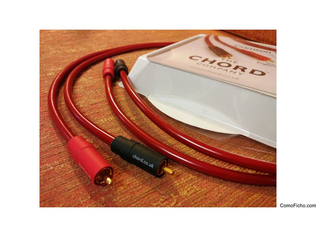Cables de interconexión Chord Crimson Vee 3 (1m)