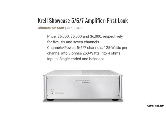 Krell SHOWCASE 5 Canales 125 w canal