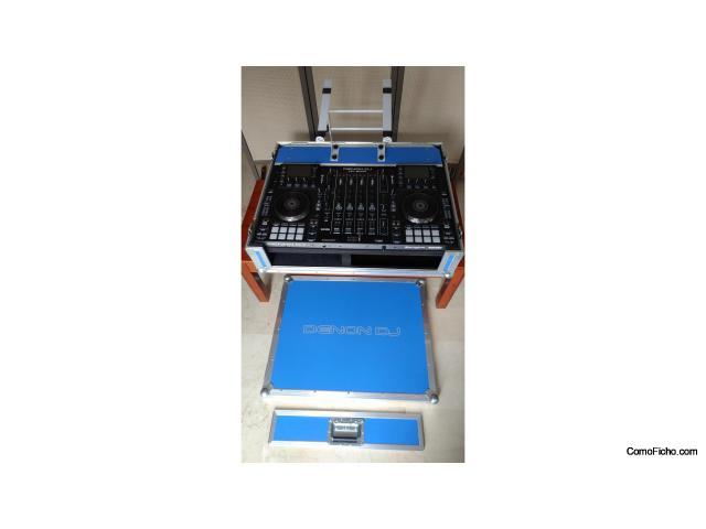 Denon DJ MCX8000 controlador autónomo + LED flight case custom made + Decksaver original + OdyUSA