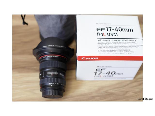 OBJETIVO CANON 17-40 mm. F4. USM. Serie L.