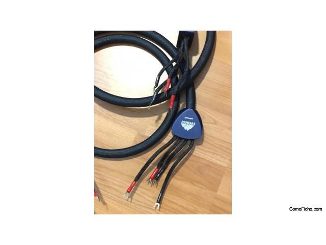 Vendo cable Altavoz Audioquest Everest 2m. Bi-wire, plata de altisima pureza.