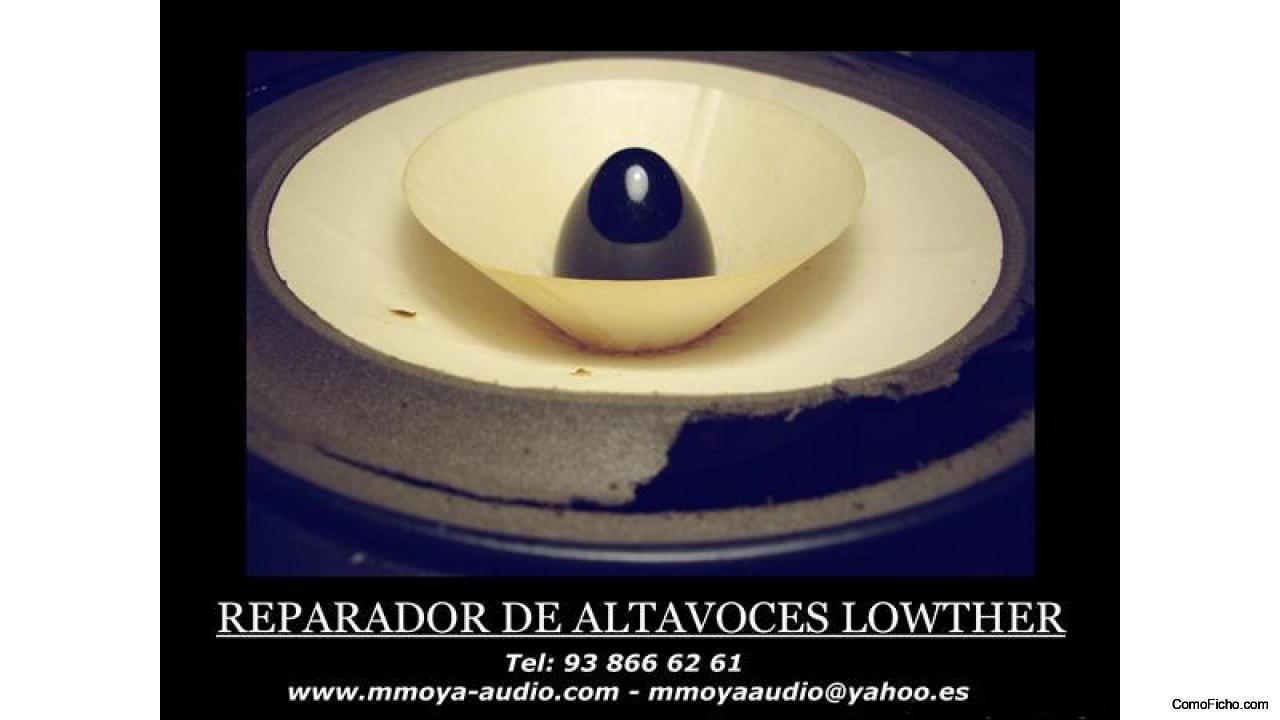 REPARACION DE ALTAVOCES Y CAJAS ACUSTICAS VINTAGE