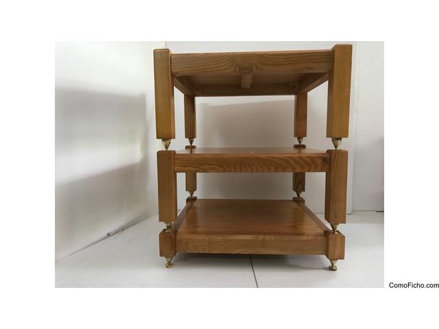 (3 shelves) 100% natural ash wood for AMP Mcintosh, Krell,Pass Lab,Mark Levinson